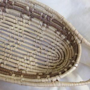 Oblong straw Weave bread Basket